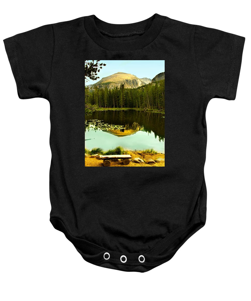 Reflection Baby Onesie featuring the photograph Reflection by Marilyn Hunt