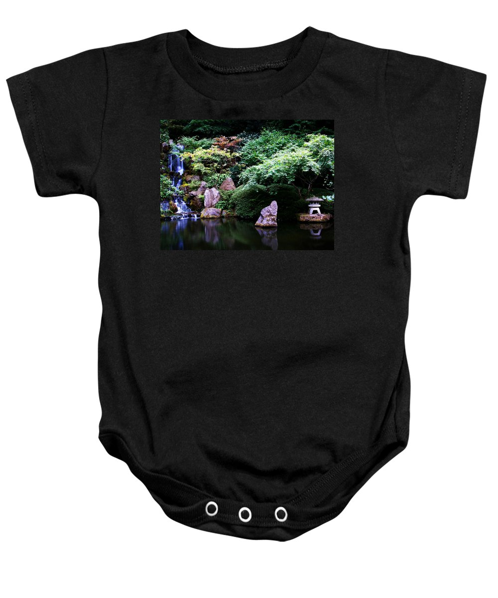 Reflection Baby Onesie featuring the photograph Reflection Pond by Anthony Jones