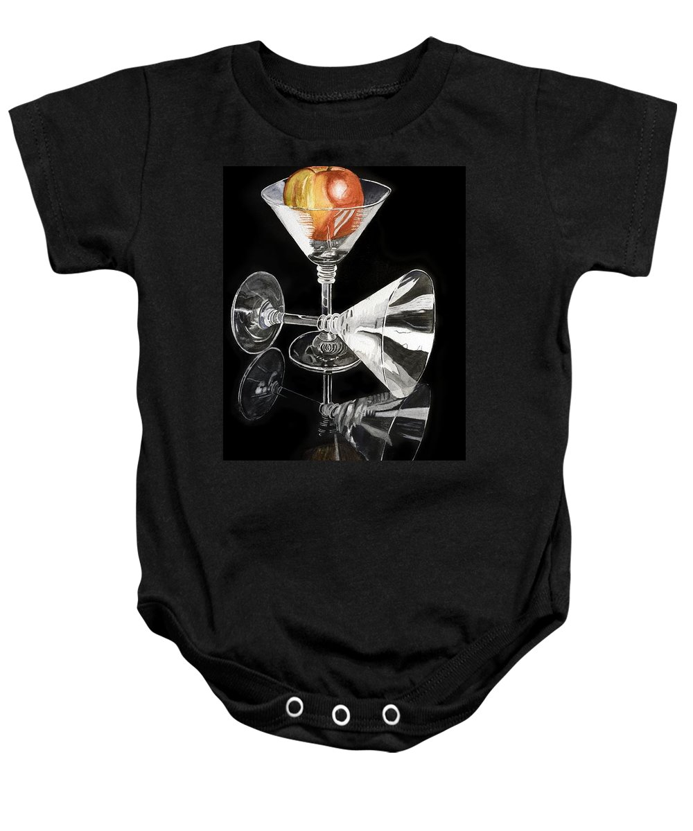 Reflections Baby Onesie featuring the painting Reflections by Frank Hamilton