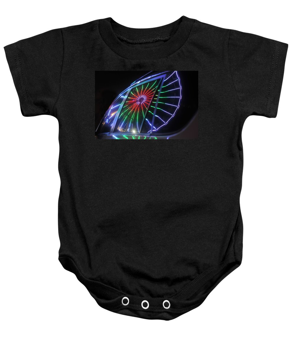 Fair Baby Onesie featuring the photograph Reflections Of Ferris by David Lee Thompson
