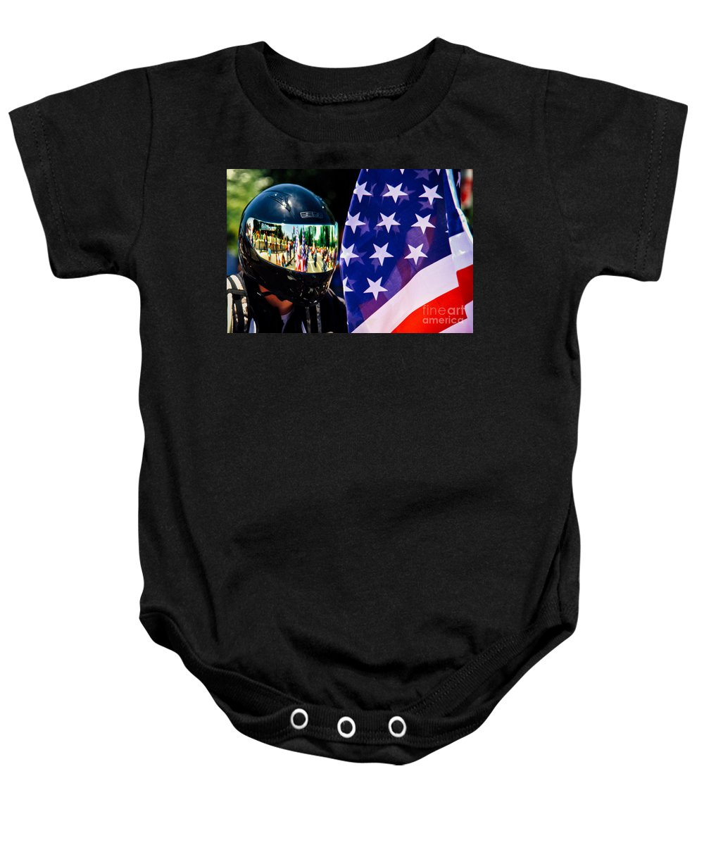 Washington Baby Onesie featuring the photograph Reflections Of Rolling Thunder by Tom Gari Gallery-Three-Photography