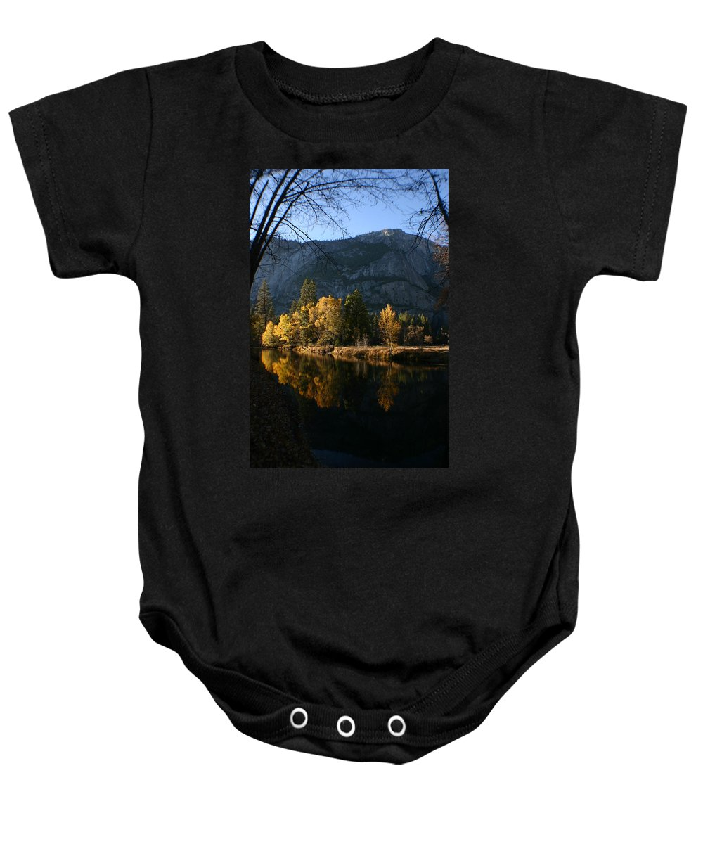 Yosemite Baby Onesie featuring the photograph Reflections by Travis Day