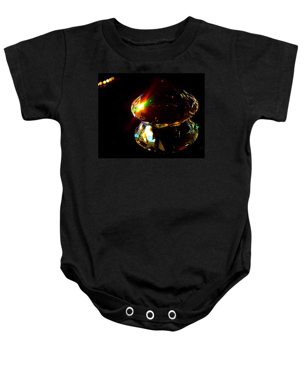 Crystal Baby Onesie featuring the photograph Refraction Reflection by Cricket Hackmann