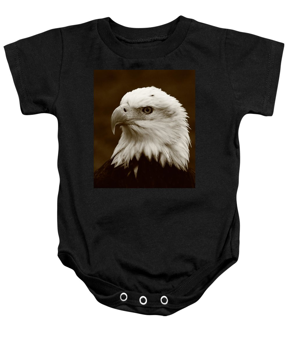 Eagle Baby Onesie featuring the photograph Regal Eagle by Bruce J Robinson
