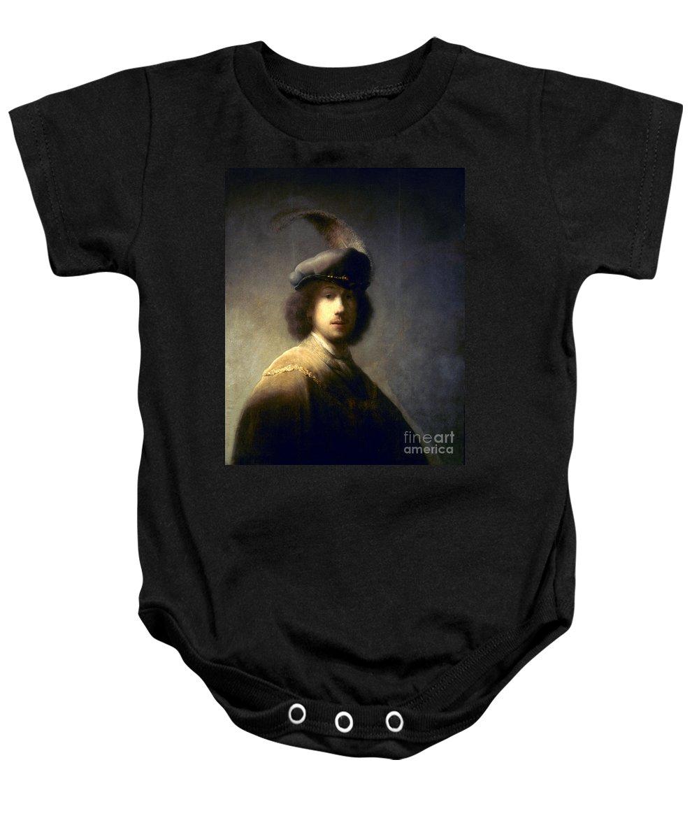 1629 Baby Onesie featuring the photograph Rembrandt Van Rijn by Granger