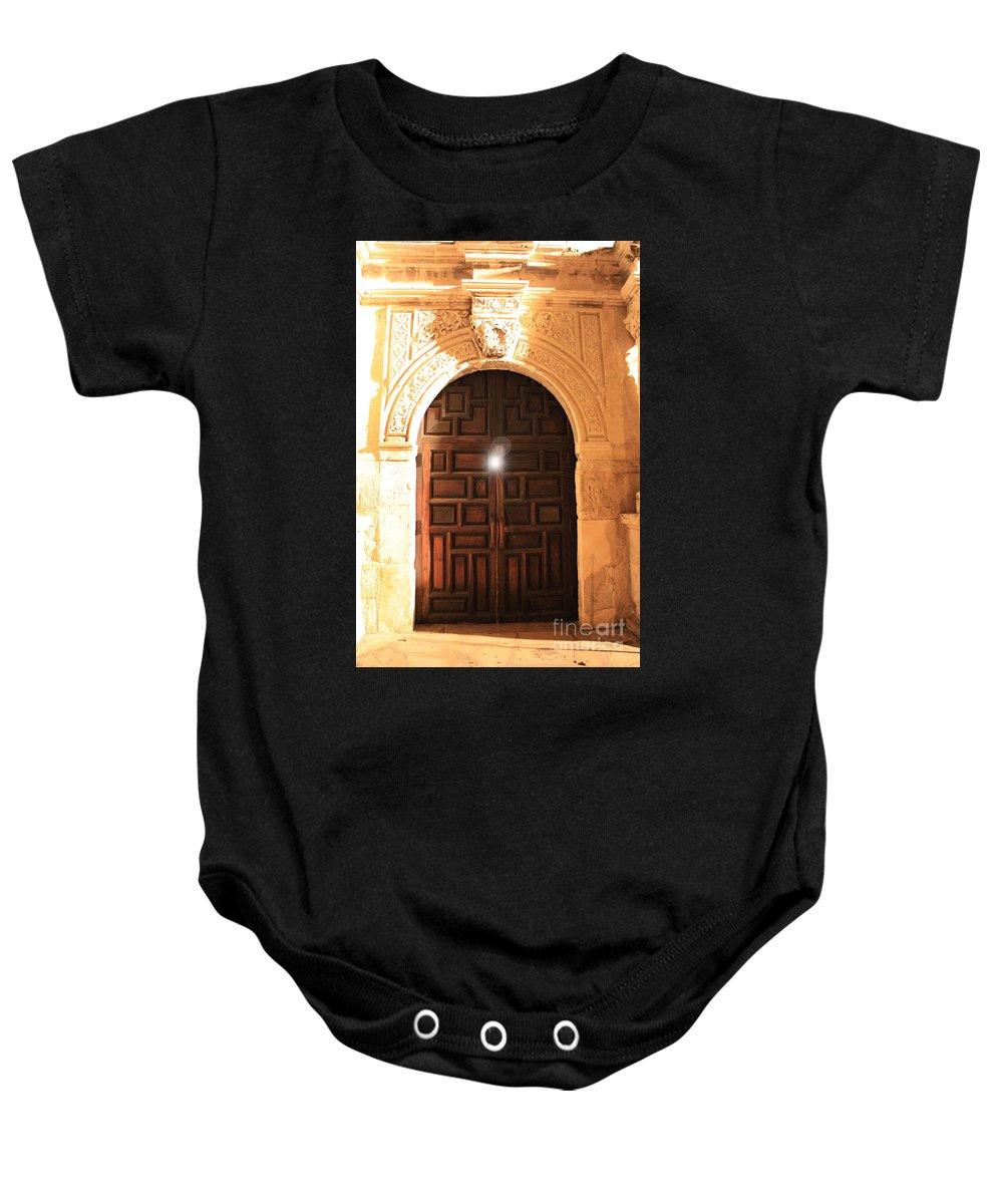 Spirit Of The Alamo Baby Onesie featuring the photograph Remembering The Spirit Of The Alamo by Carol Groenen