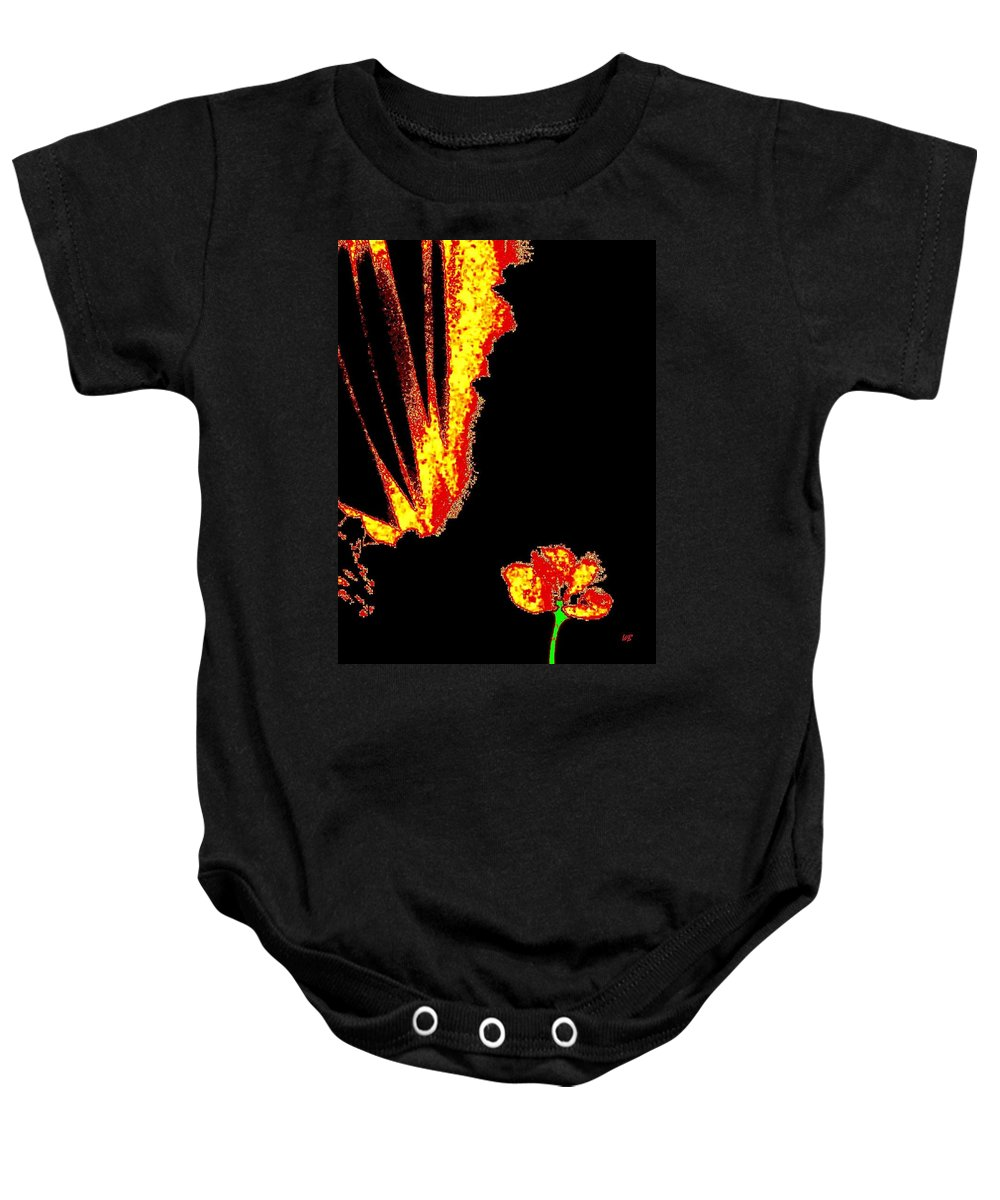 Abstract Baby Onesie featuring the digital art Reminiscence by Will Borden