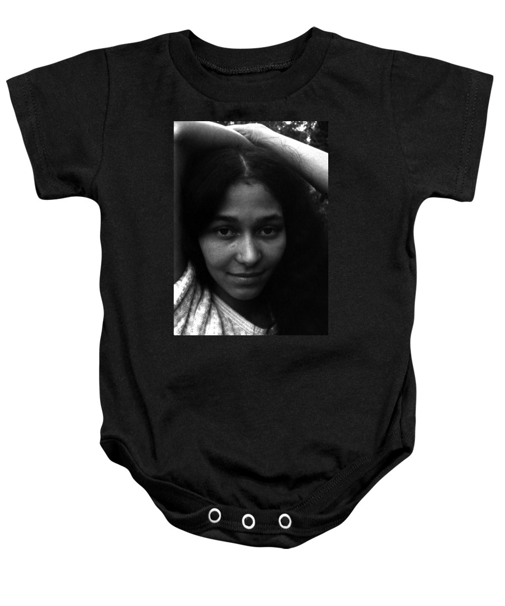 Baby Onesie featuring the photograph Rene by Lee Santa