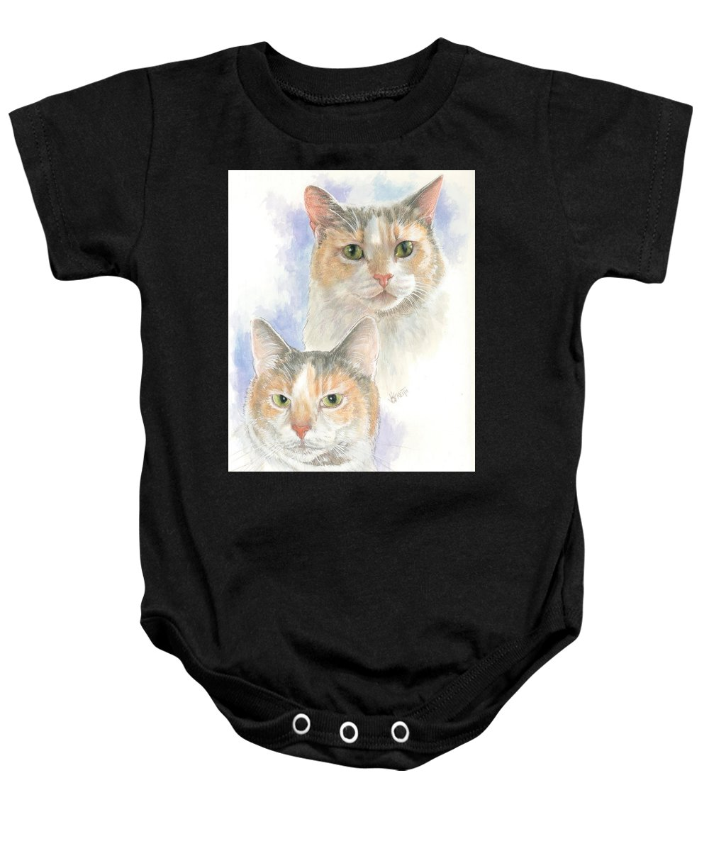 Domestic Baby Onesie featuring the mixed media Reno by Barbara Keith