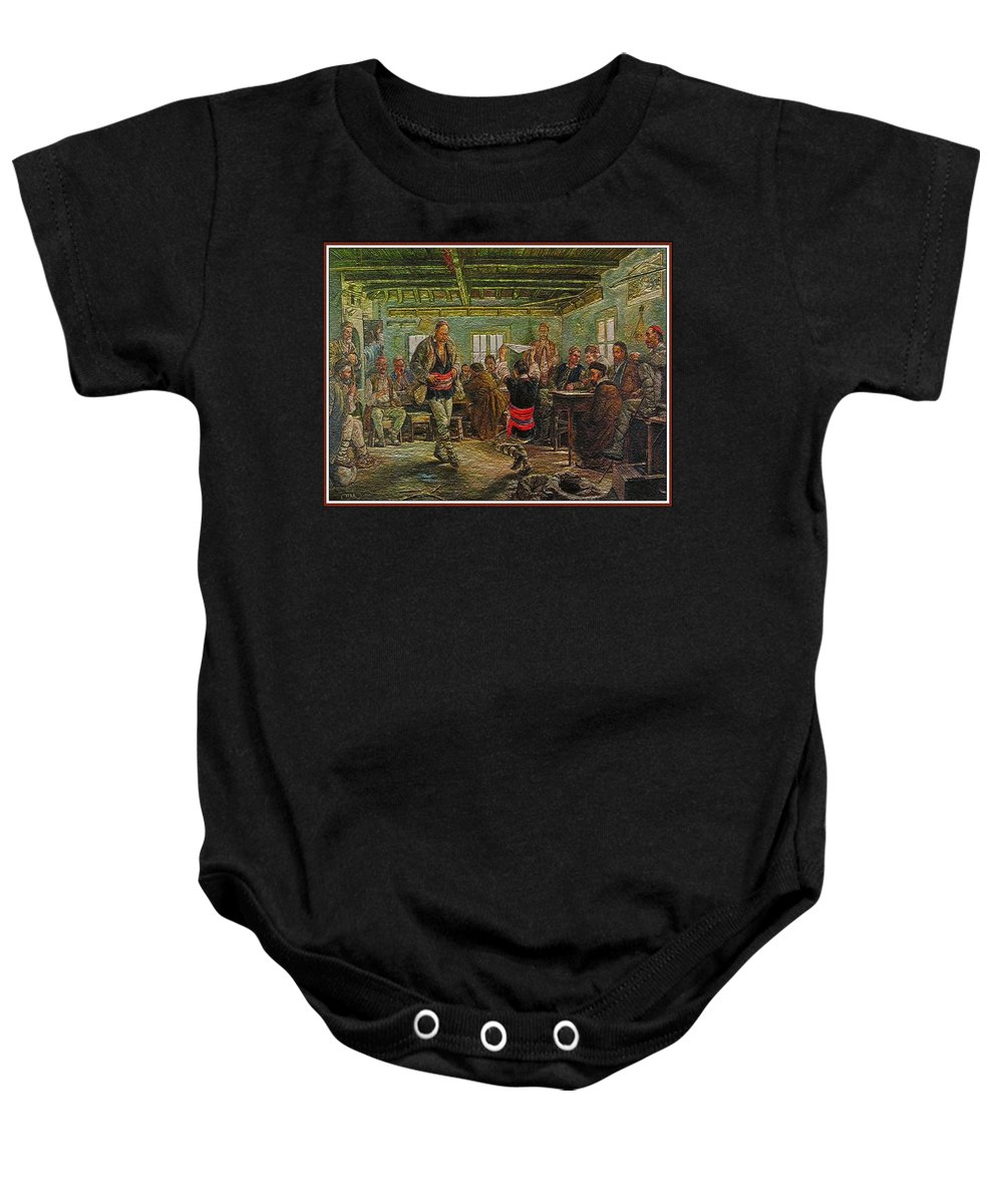 Impressionism Baby Onesie featuring the painting replica of Ruchenitsa by Nikola Tanev by Pemaro