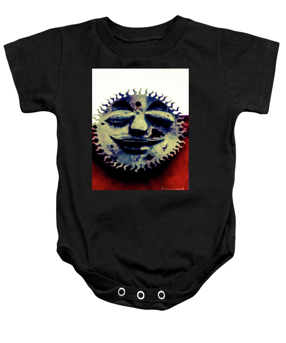 Metal Art Baby Onesie featuring the photograph Resting My Eyes by Loretta Bueno