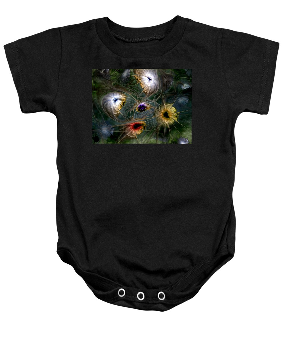 Abstract Baby Onesie featuring the digital art Revival by Casey Kotas