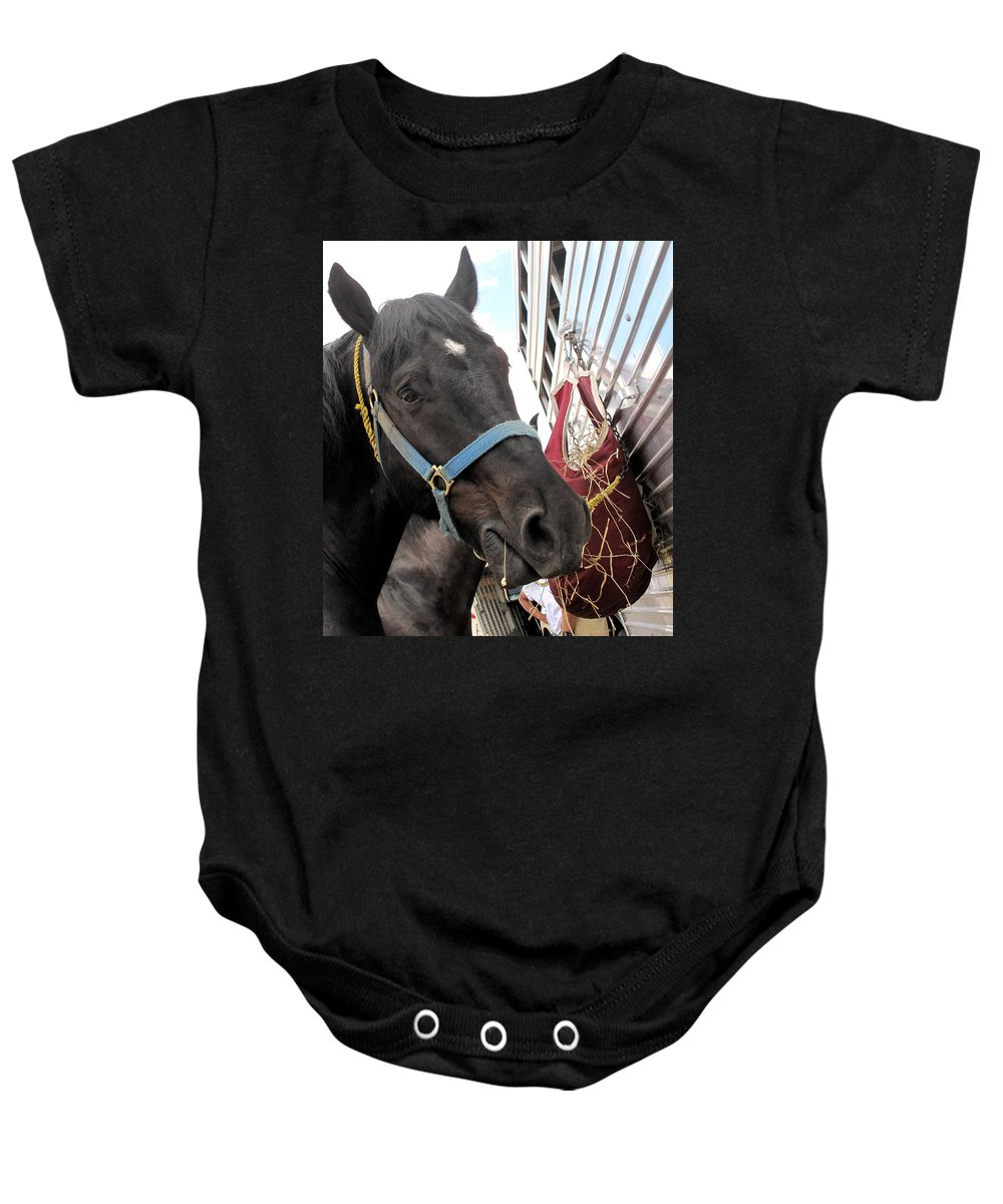 Horse Baby Onesie featuring the photograph Reward For A Job Well Done by Ian MacDonald