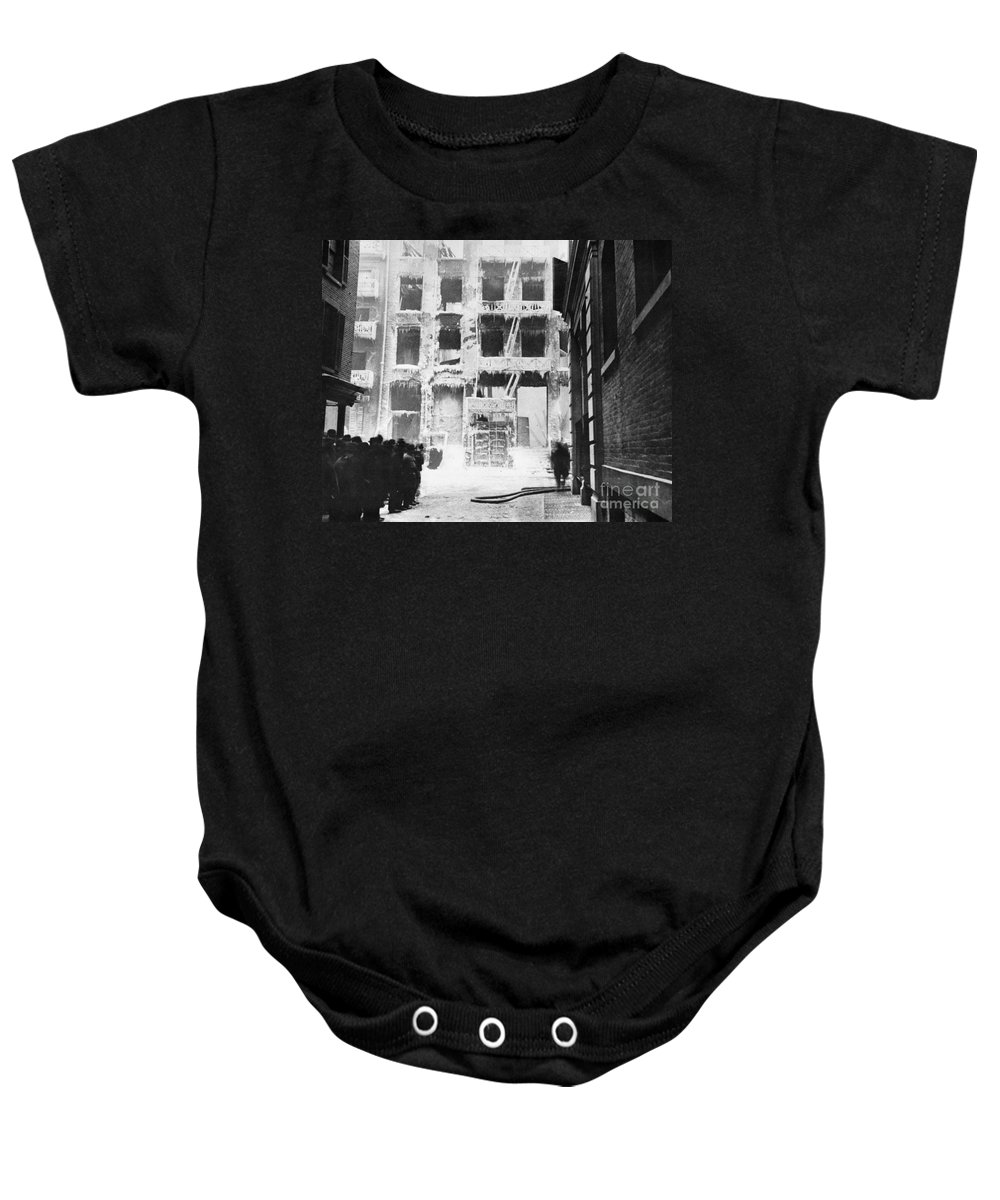 1909 Baby Onesie featuring the photograph Riis: Lower East Side by Granger