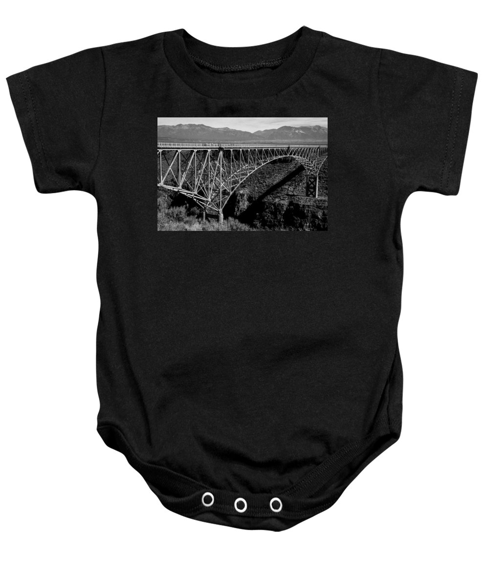 new Mexico Baby Onesie featuring the photograph Rio Grande Bridge In New Mexico by Spirit Vision Photography