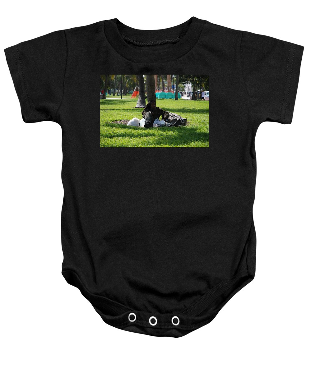 Urban Baby Onesie featuring the photograph Rip Van Winkle by Rob Hans