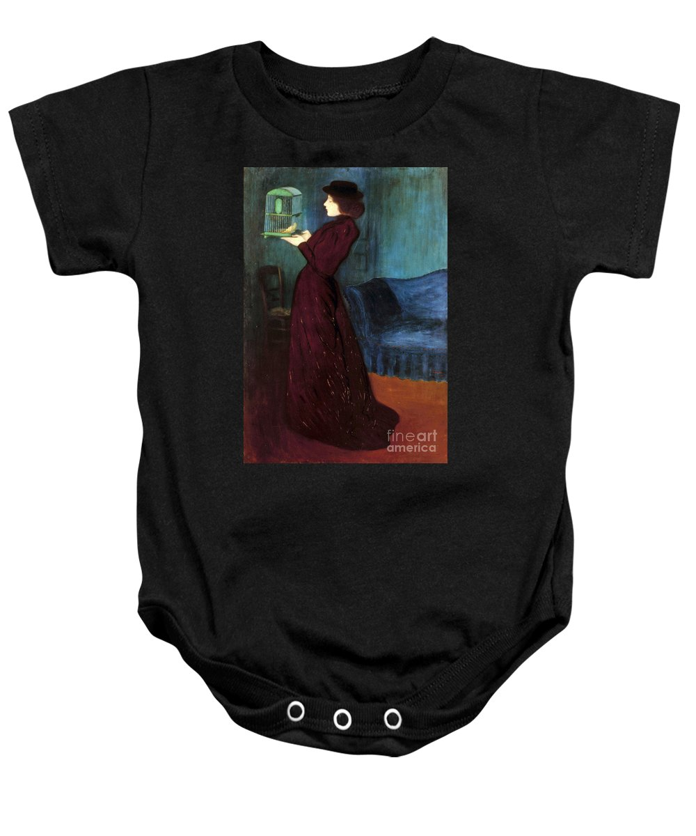 1892 Baby Onesie featuring the photograph Ripple-ronai: Woman, 1892 by Granger