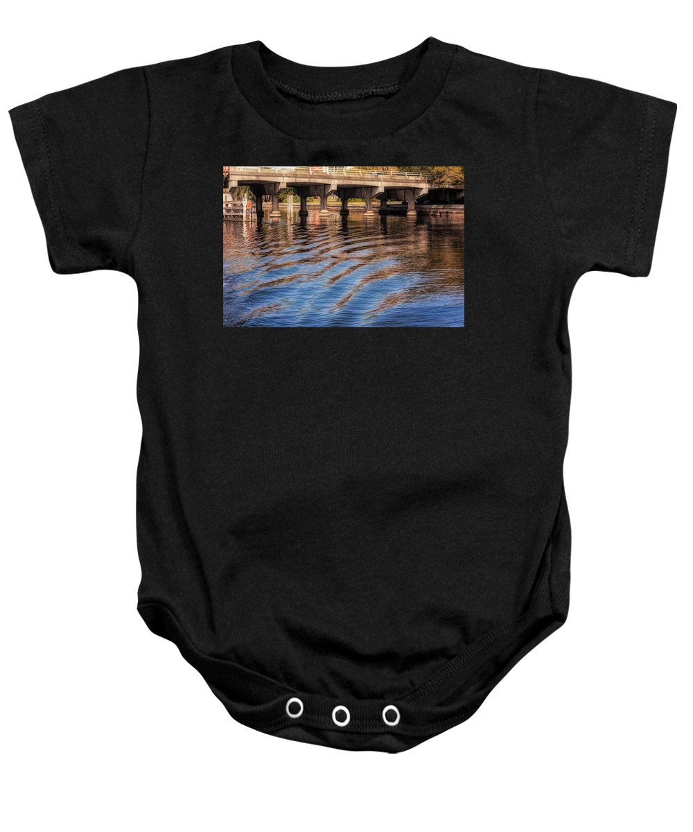 Art Baby Onesie featuring the photograph Ripples And Reflections by John M Bailey