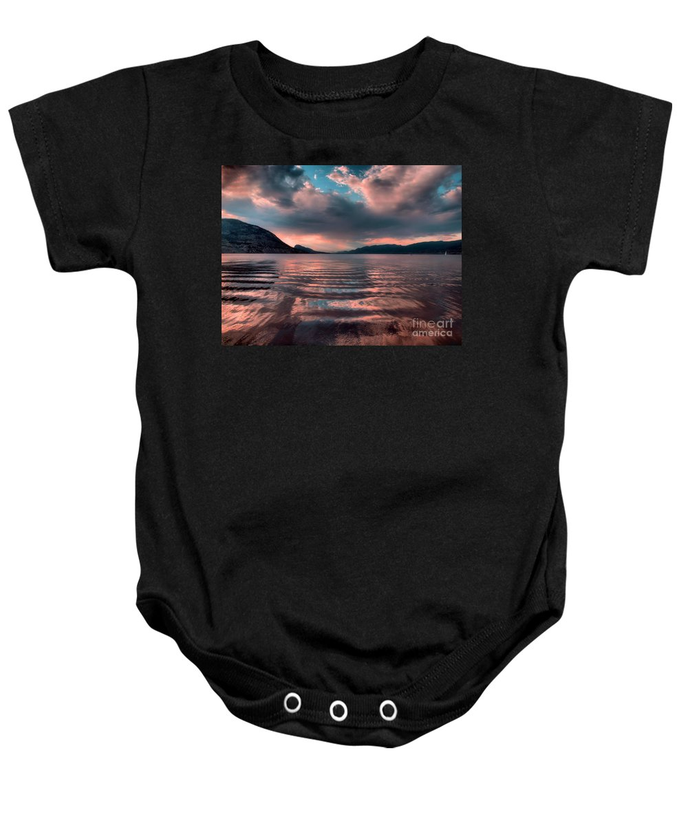 Lake Baby Onesie featuring the photograph Ripples And Reflections by Tara Turner