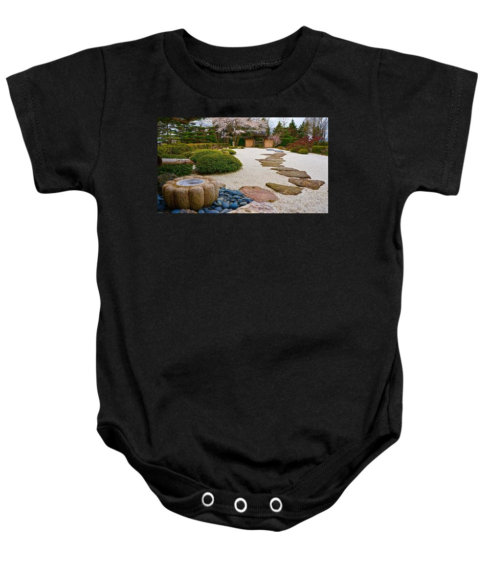 Japanese Garden Baby Onesie featuring the photograph Ripples And Serenity by Tim G Ross
