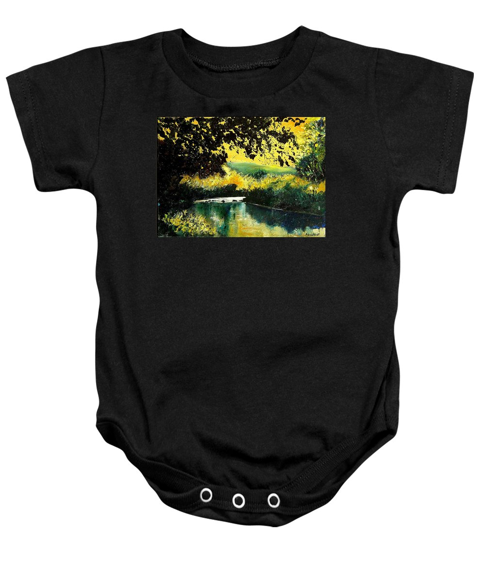 River Baby Onesie featuring the painting River Houille by Pol Ledent