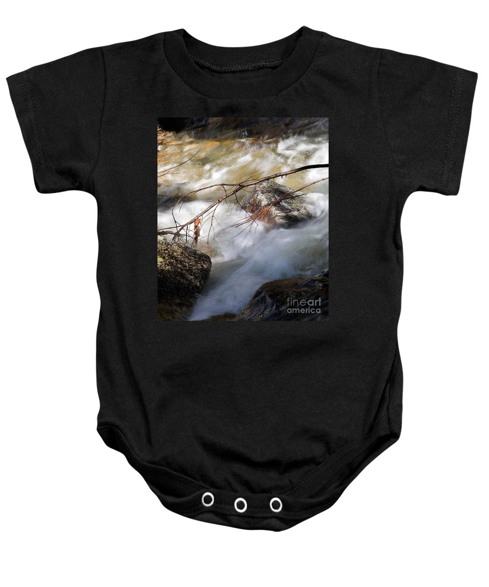 California Baby Onesie featuring the photograph River Rapids by Norman Andrus