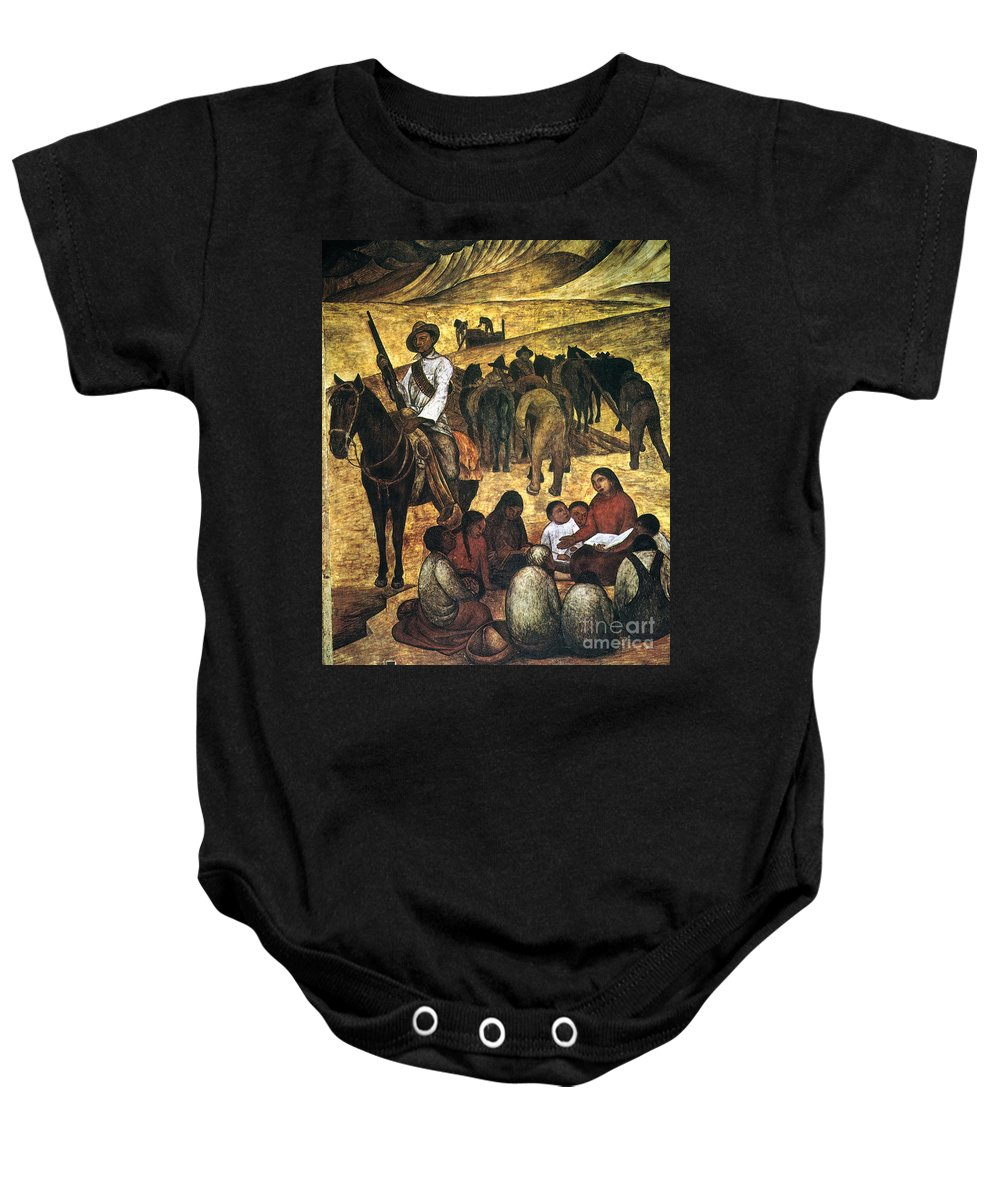 Agricultural Baby Onesie featuring the photograph Rivera: Schoolteacher by Granger