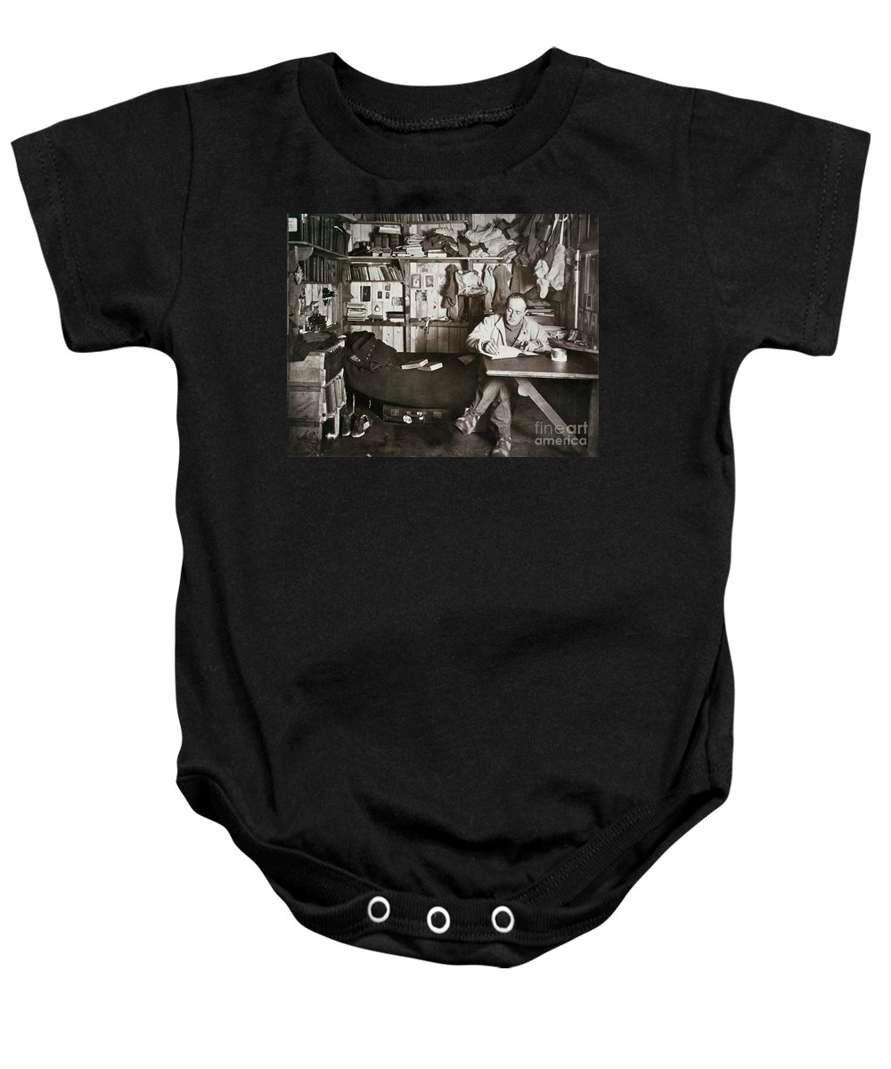 1911 Baby Onesie featuring the painting Robert Falcon Scott by Granger