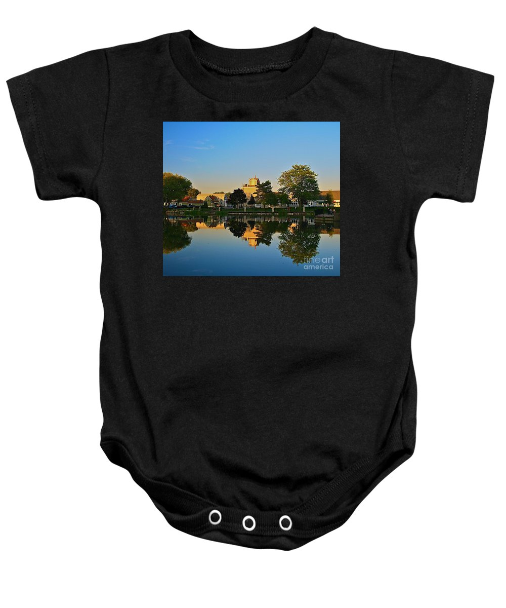 Places Baby Onesie featuring the photograph Rockford Mi-1 by Robert Pearson