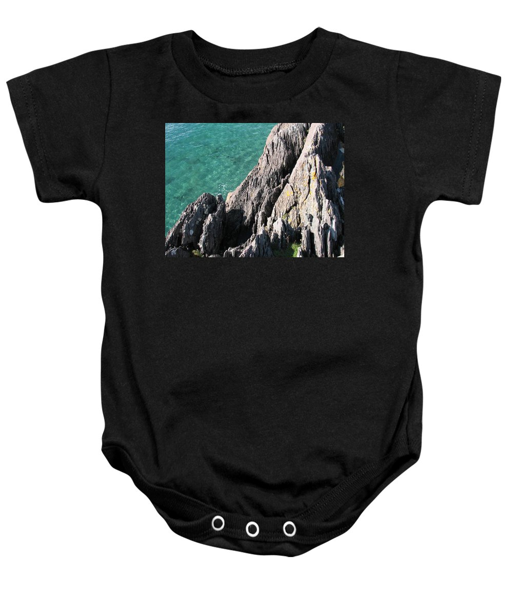 Kerry Baby Onesie featuring the photograph Rocks Of Kerry by Kelly Mezzapelle