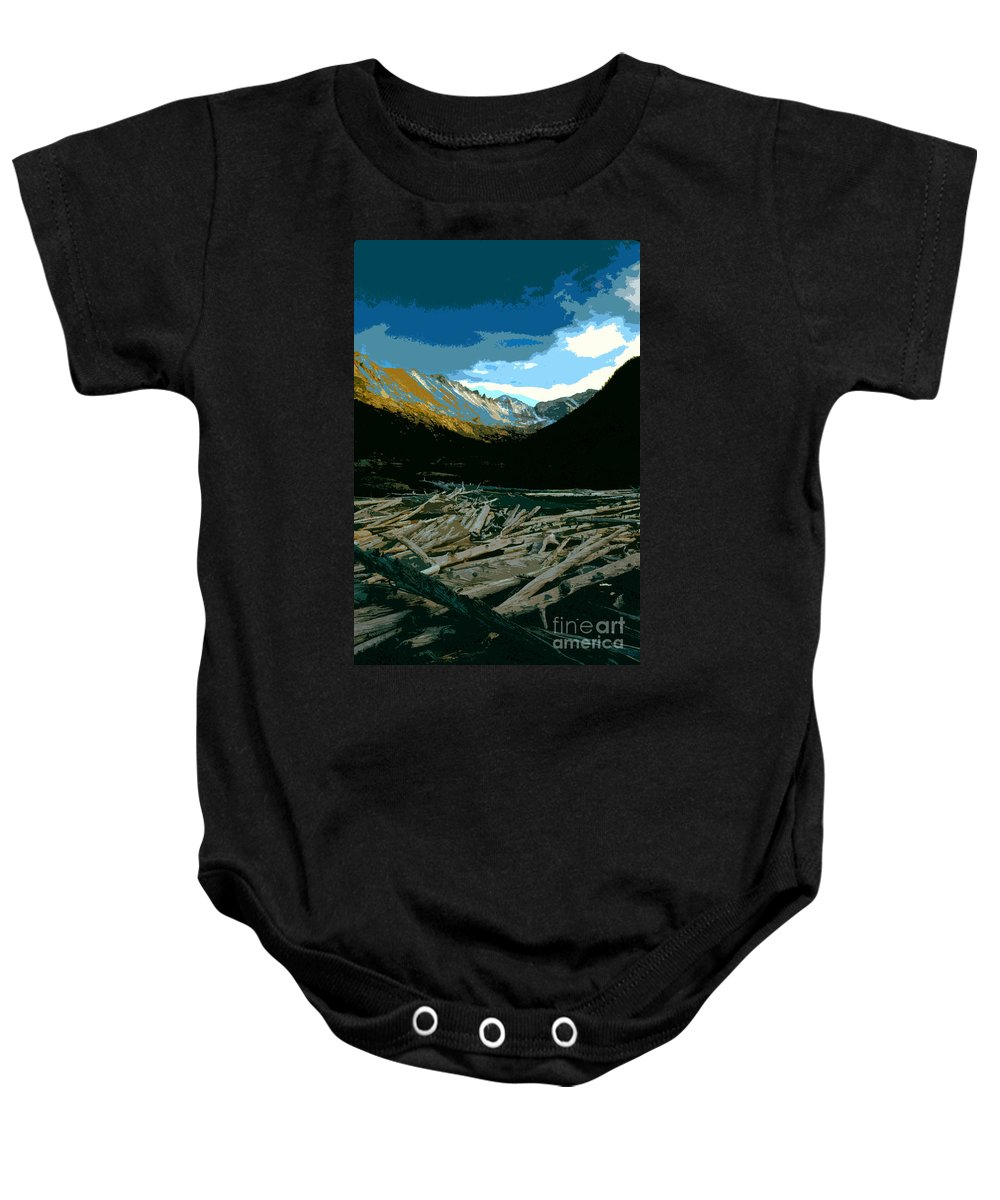Rocky Mountain National Park Baby Onesie featuring the painting Rocky Mountain National Park by David Lee Thompson
