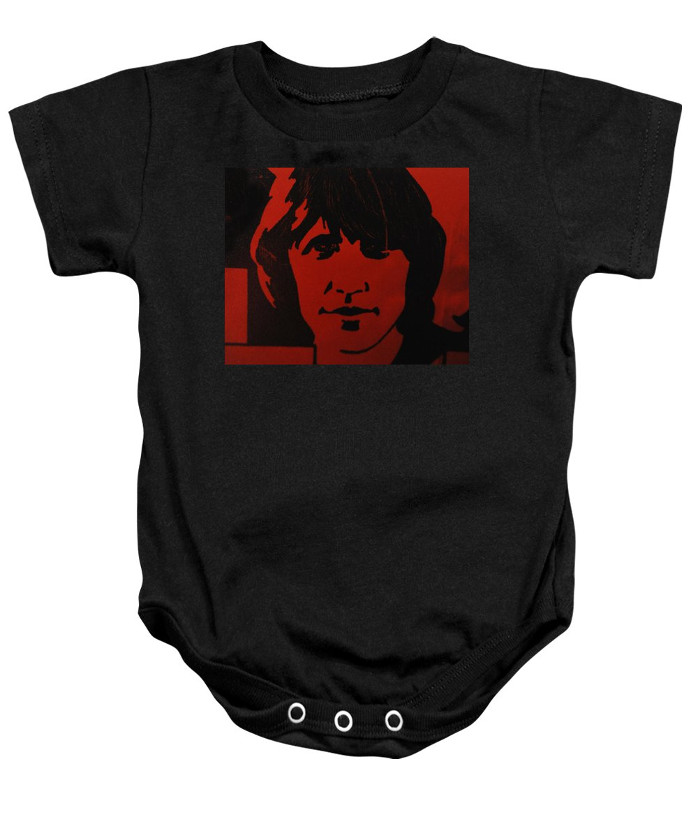 Abstract Baby Onesie featuring the photograph Roger Waters by Rob Hans