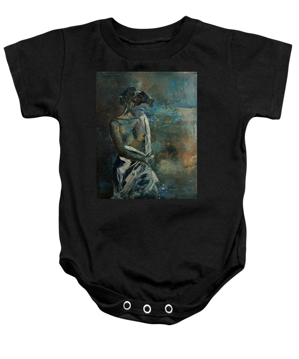 Nude Baby Onesie featuring the painting Roman Nude 45 by Pol Ledent