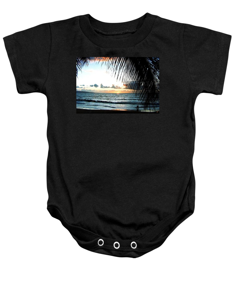 1986 Baby Onesie featuring the photograph Romantic Sunset by Will Borden
