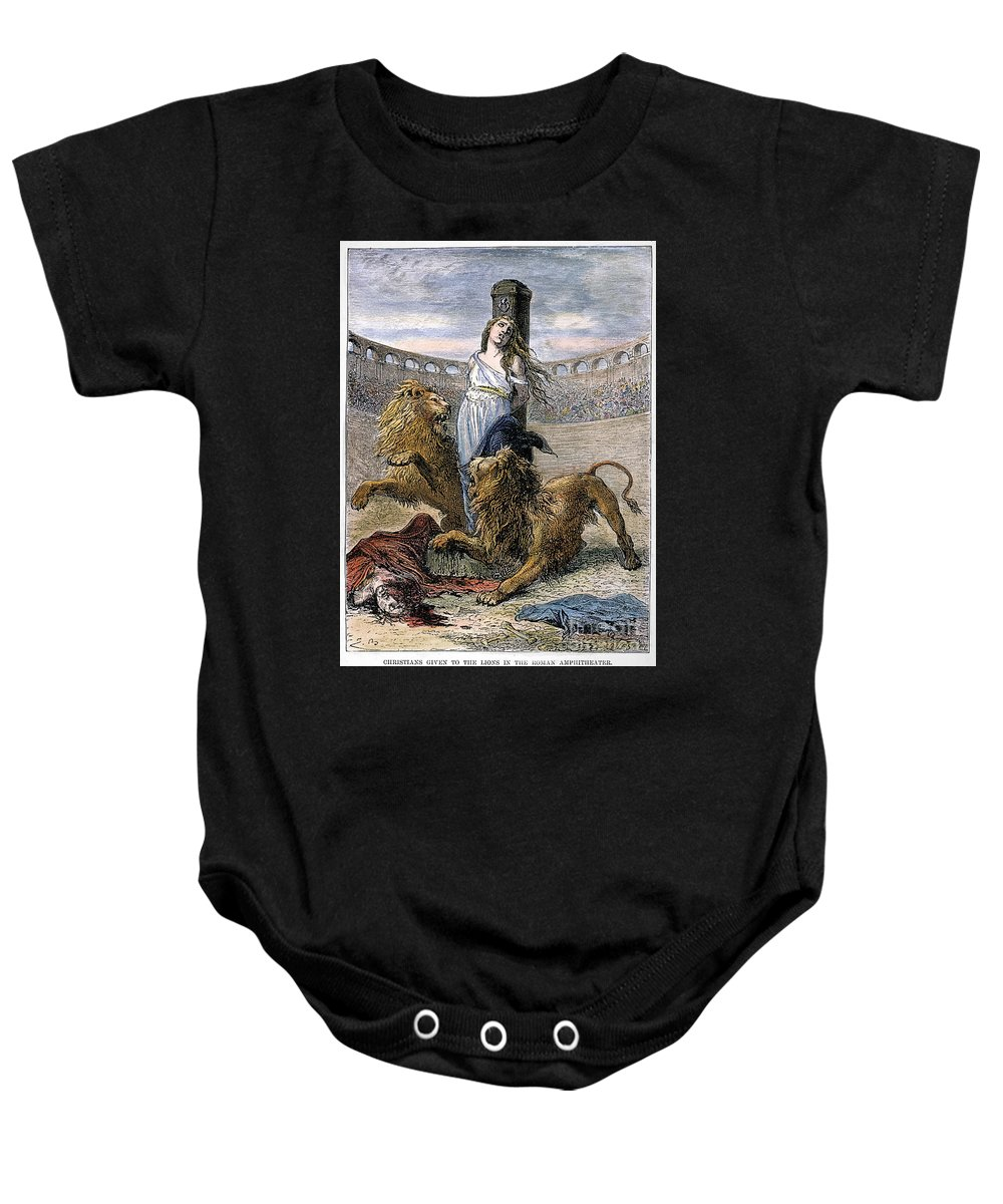 19th Century Baby Onesie featuring the photograph Rome: Christian Martyrs by Granger