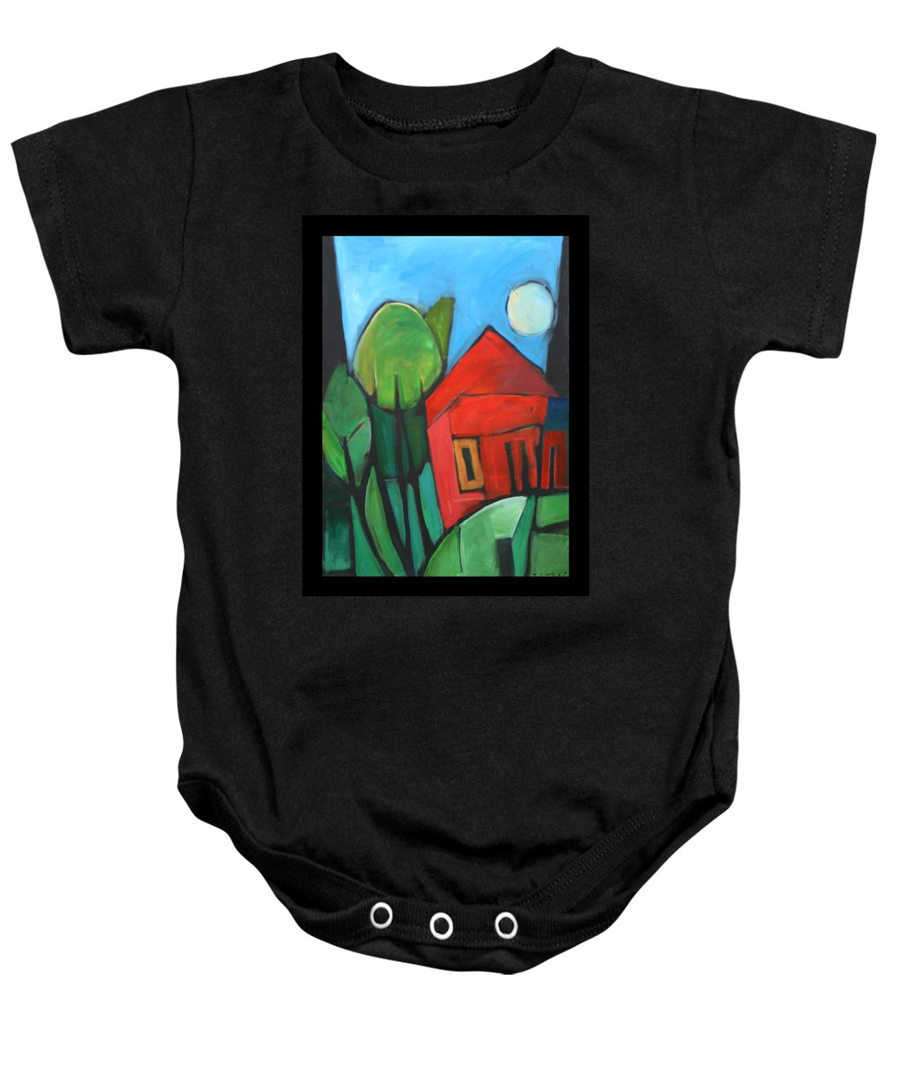 Trees Baby Onesie featuring the painting Root Cellar by Tim Nyberg