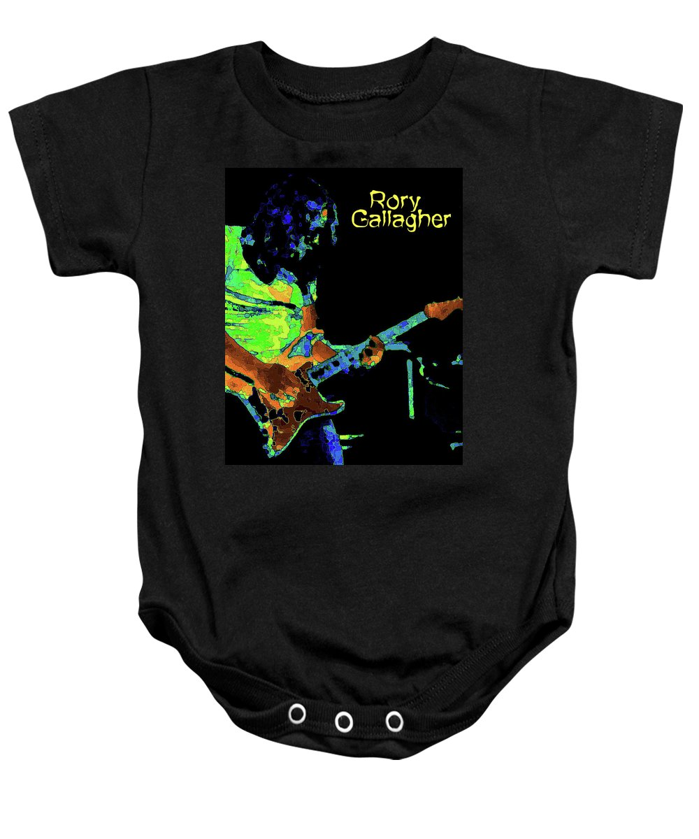 Rock Musicians Baby Onesie featuring the photograph Pastel Rocker by Ben Upham