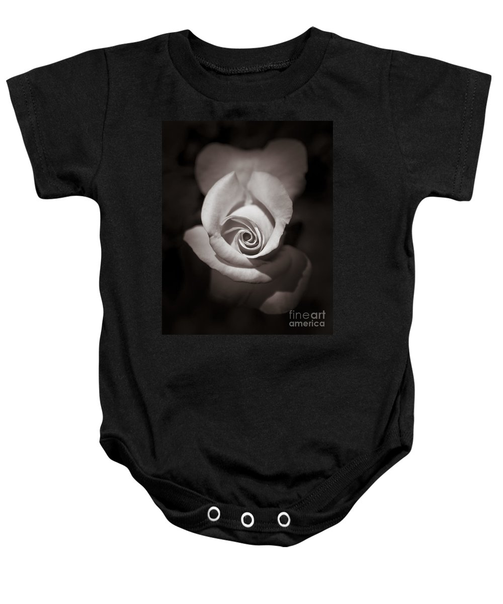 Black Baby Onesie featuring the photograph Rose 2 by Hitendra SINKAR