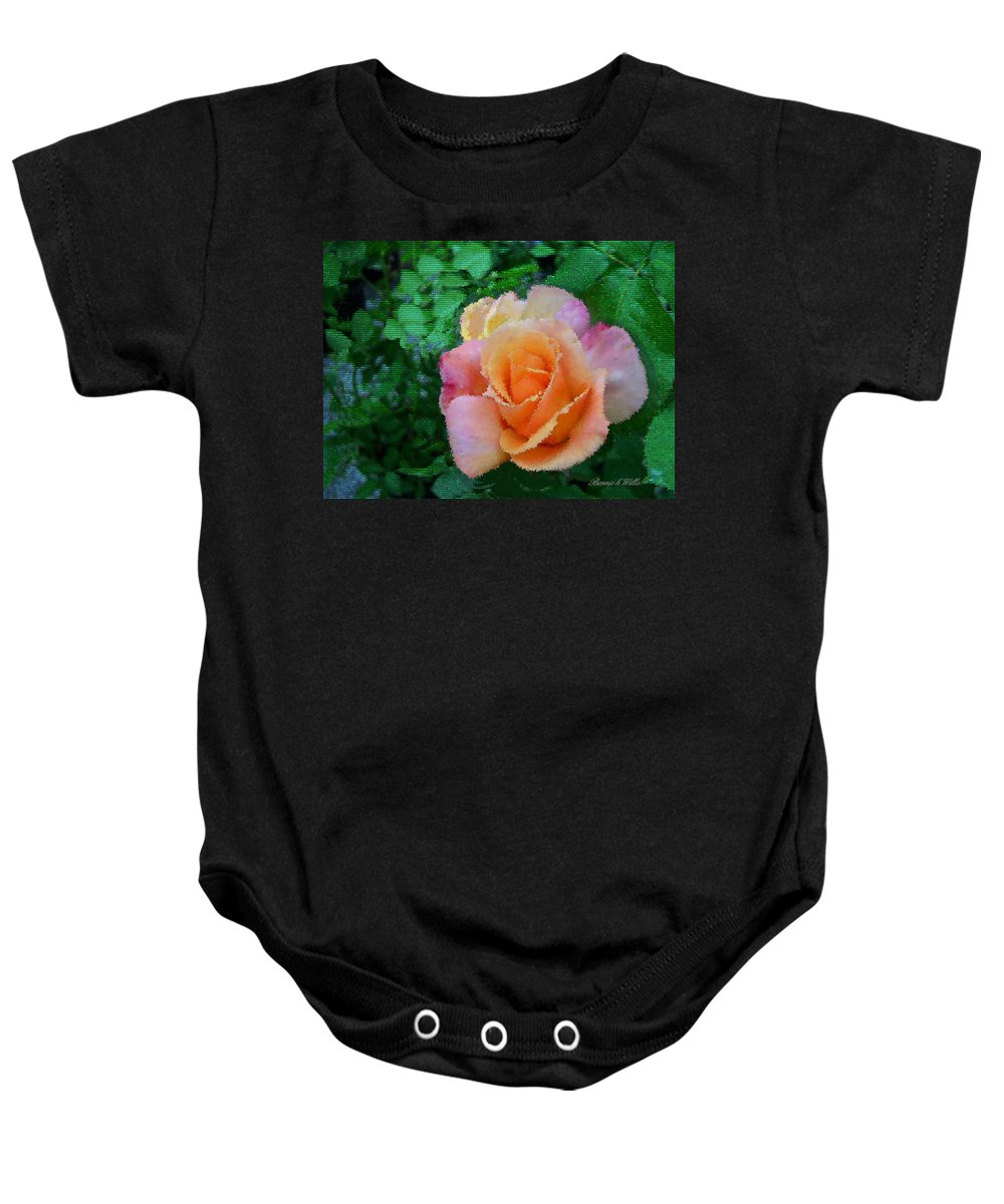 Rose Baby Onesie featuring the photograph Rose by Bonnie Willis