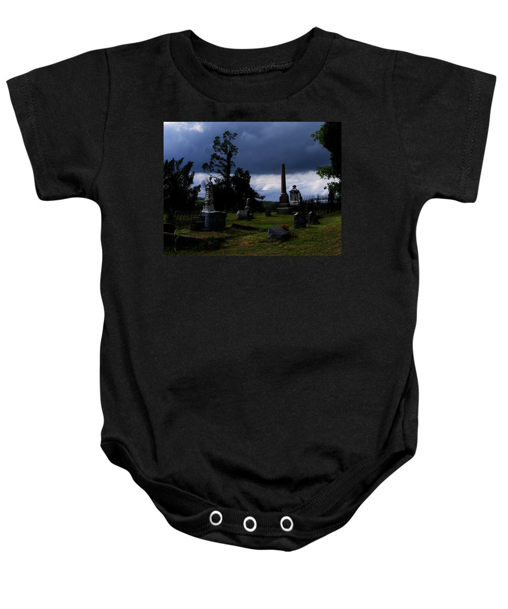 Landscape Baby Onesie featuring the photograph Roses After The Storm by Rachel Christine Nowicki