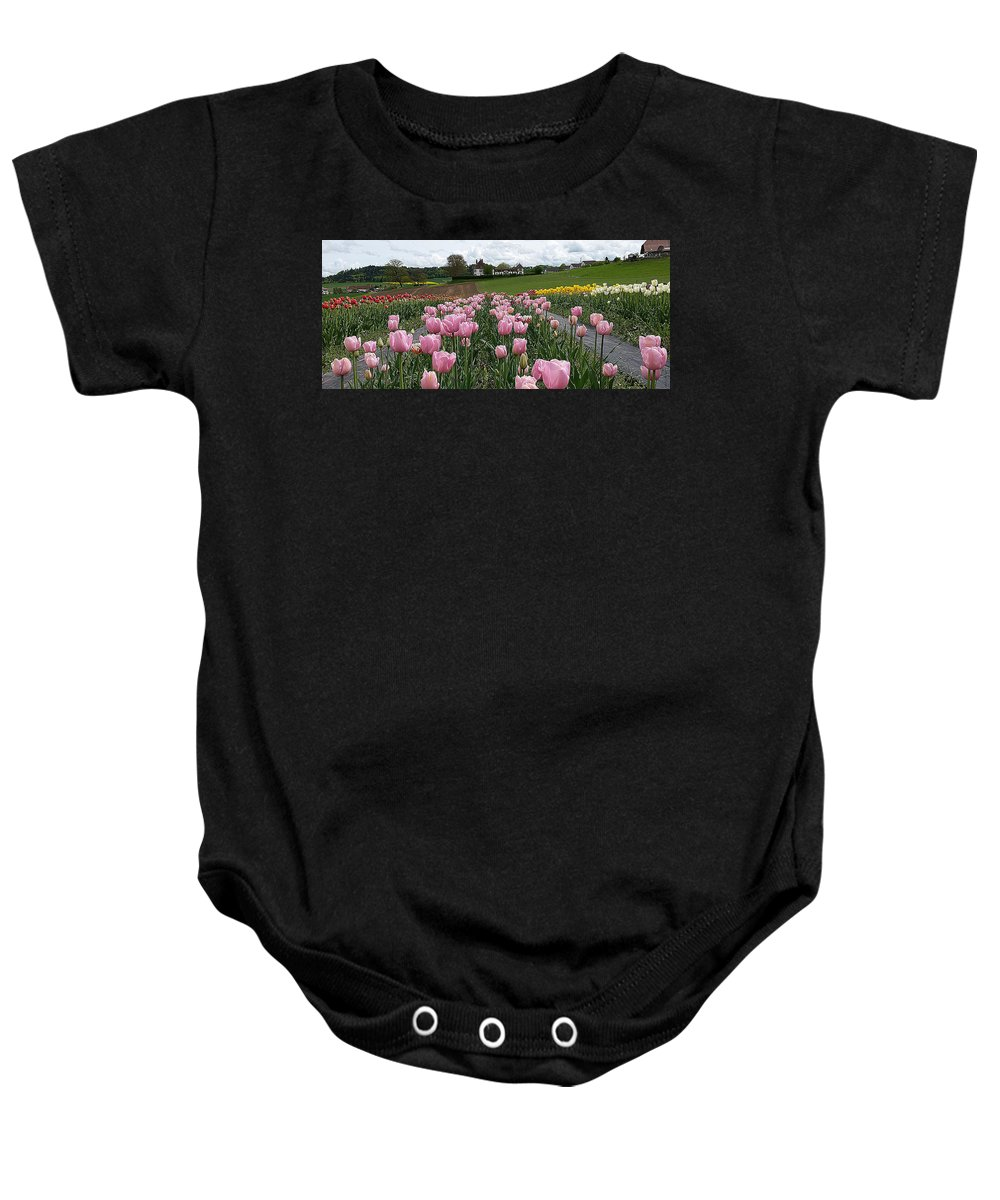 Tica Baby Onesie featuring the photograph Rosy Field by Felicia Tica