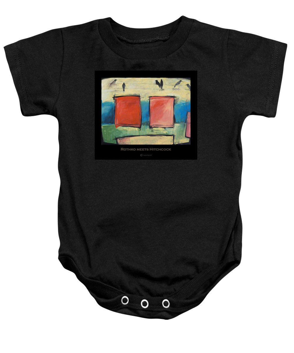 Rothko Baby Onesie featuring the painting Rothko Meets Hitchcock - Poster by Tim Nyberg