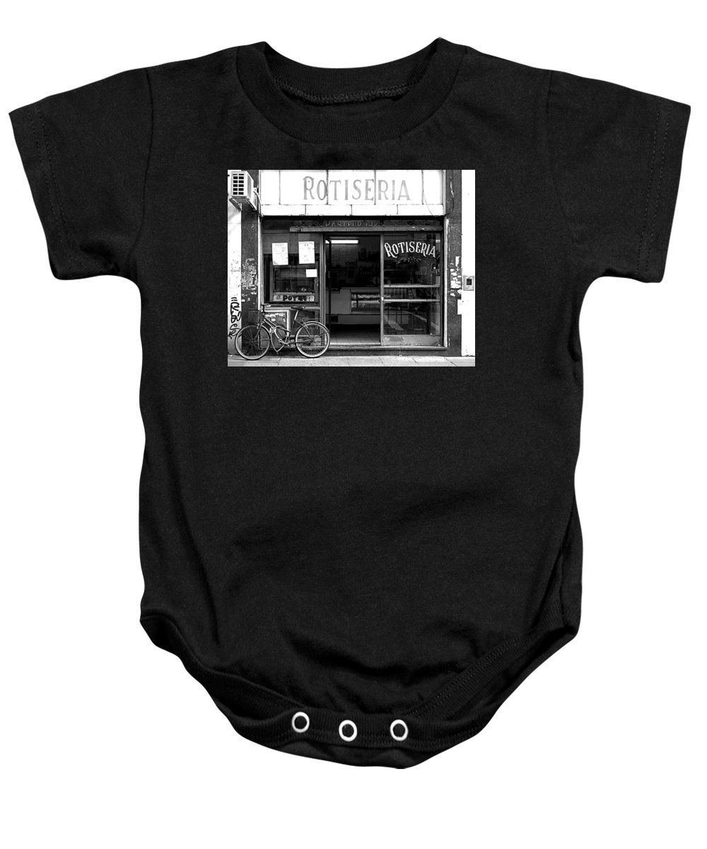Buenos Aires Baby Onesie featuring the photograph Rotiseria by Osvaldo Hamer