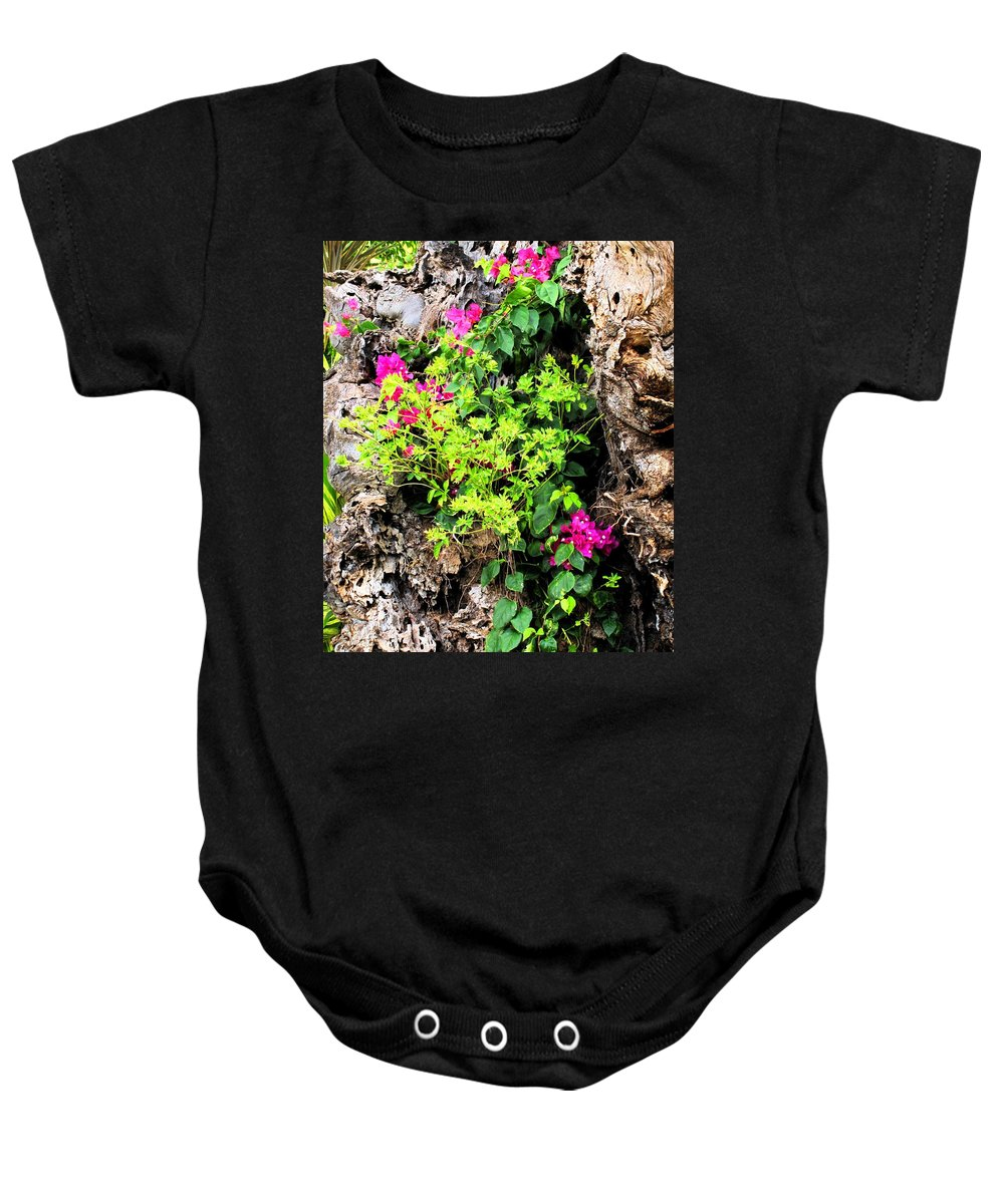 Flowers Baby Onesie featuring the photograph Rough Beauty by Ian MacDonald