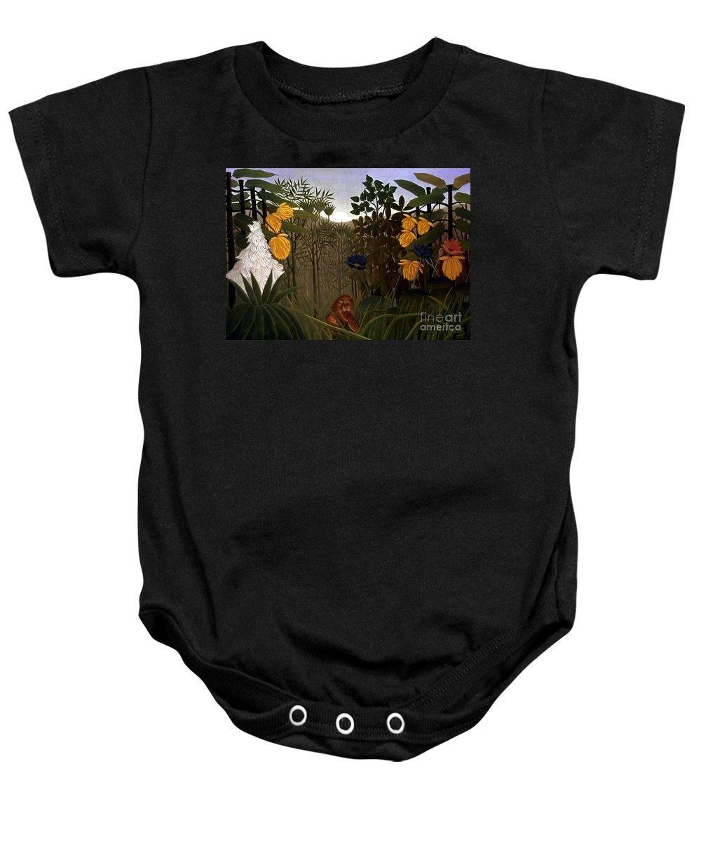20th Century Baby Onesie featuring the photograph Rousseau: Lion by Granger