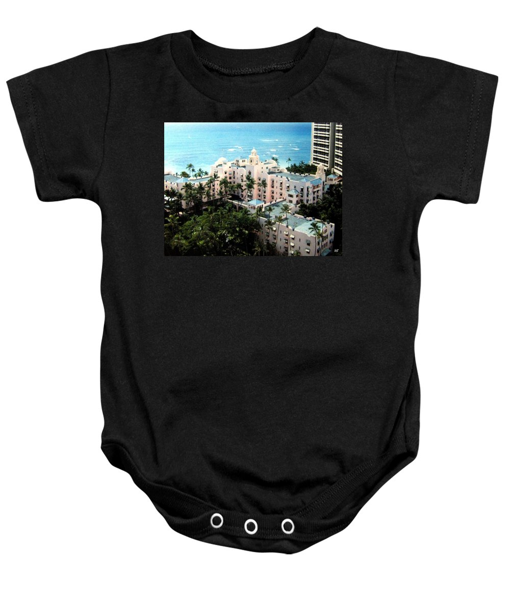 1986 Baby Onesie featuring the photograph Royal Hawaiian Hotel by Will Borden