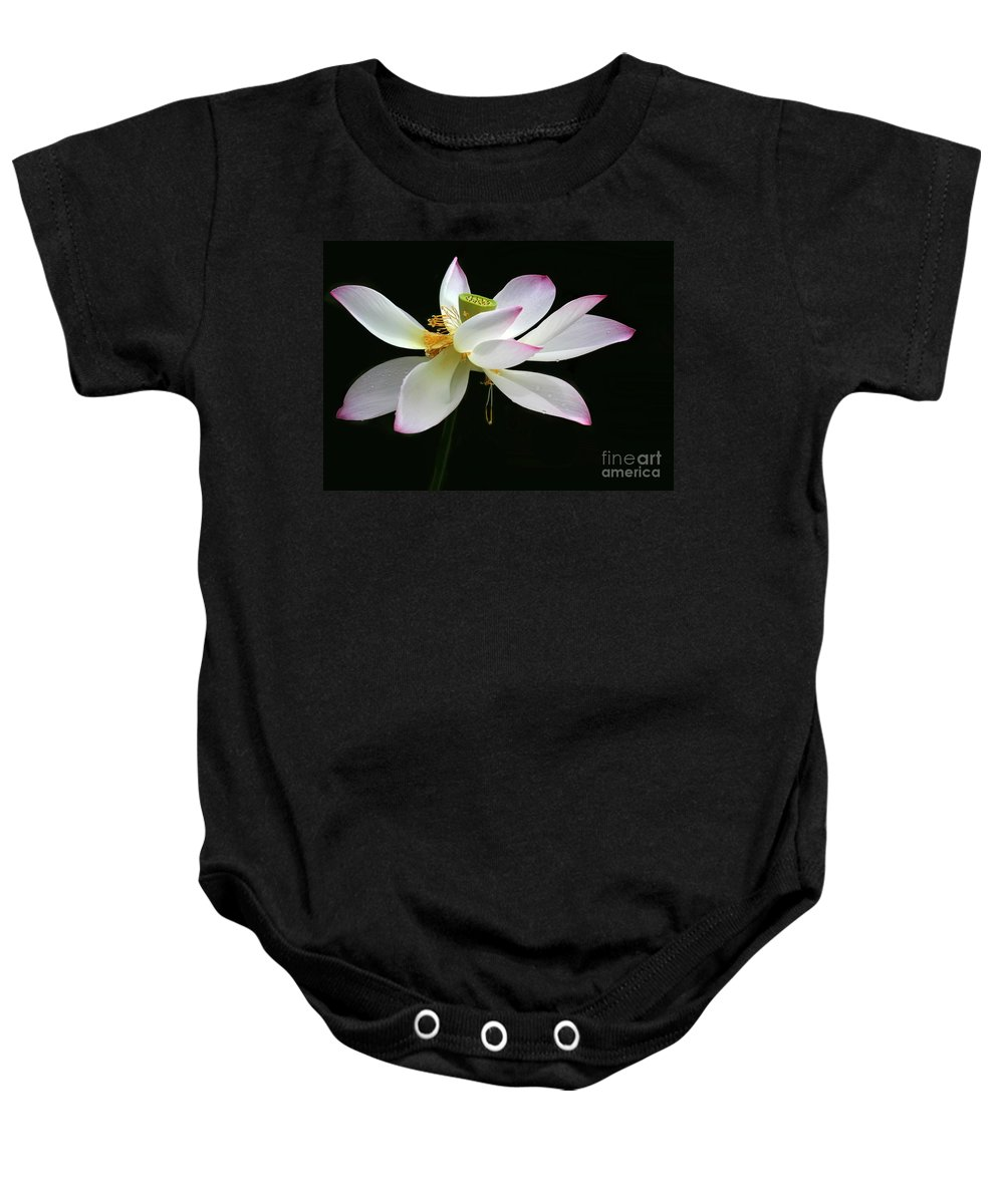 Flower Baby Onesie featuring the photograph Royal Lotus by Sabrina L Ryan