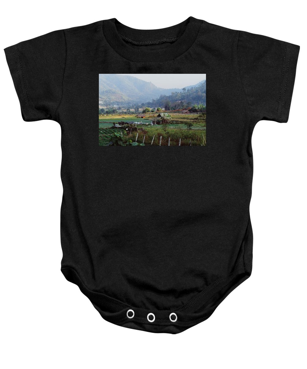 Agriculture Baby Onesie featuring the photograph Rural Scene Near Chiang Mai, Thailand by Bilderbuch