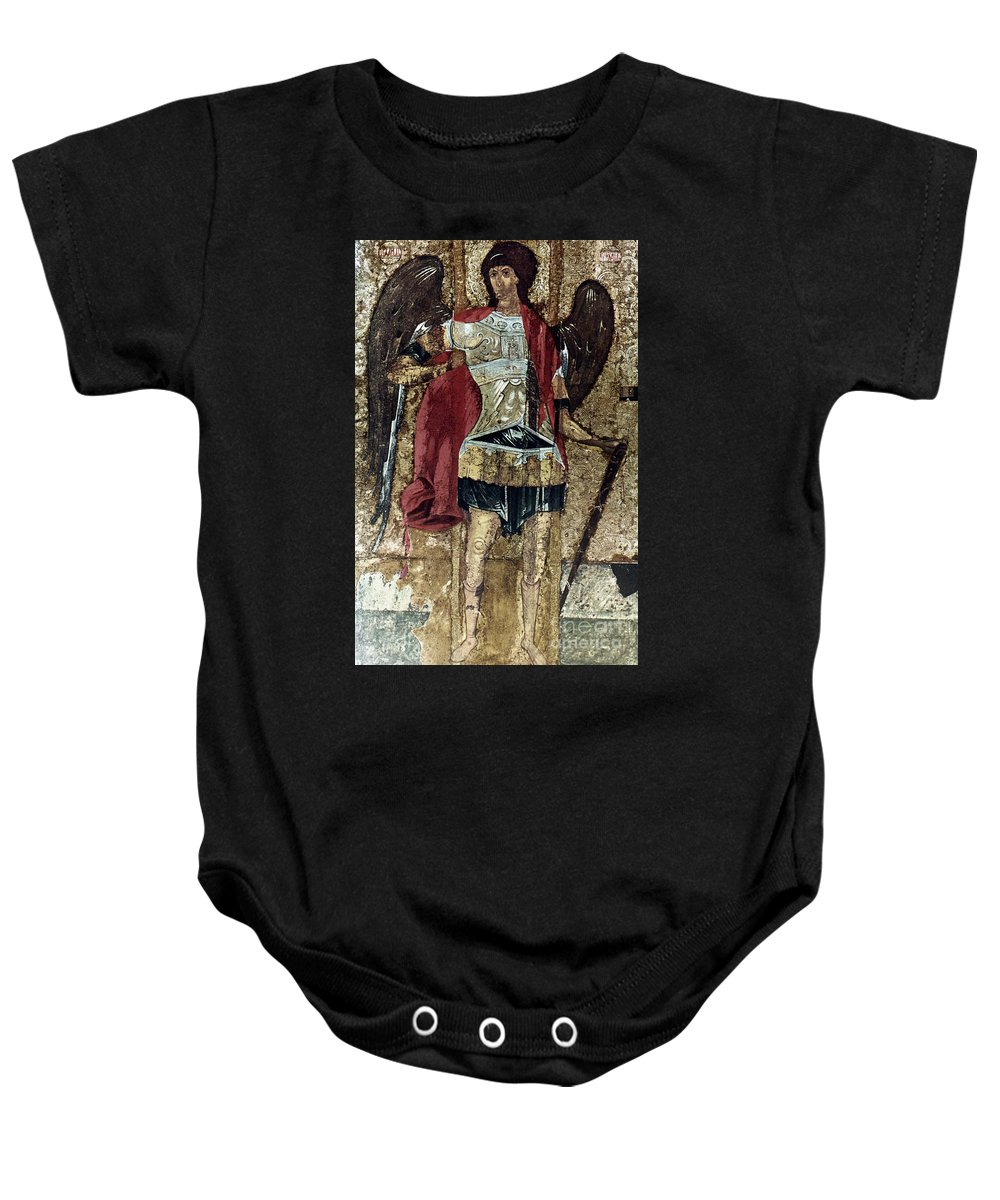 15th Century Baby Onesie featuring the photograph Russian Icons: Michael by Granger