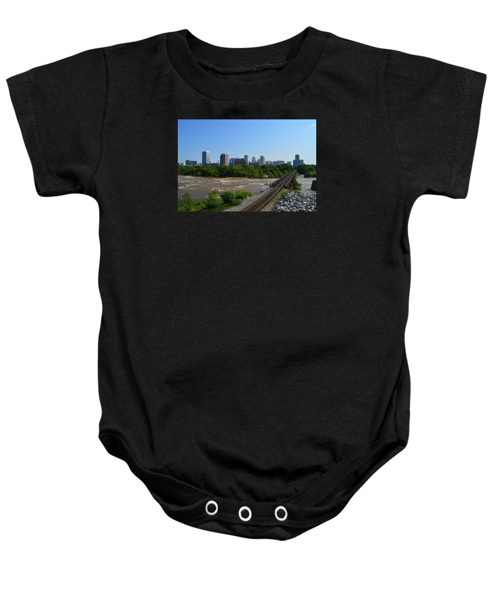 Richmond Baby Onesie featuring the photograph RVA by Aaron Dishner